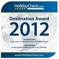 Destination Award 2012 - Pontresina is the most hospitable place in Switzerland.