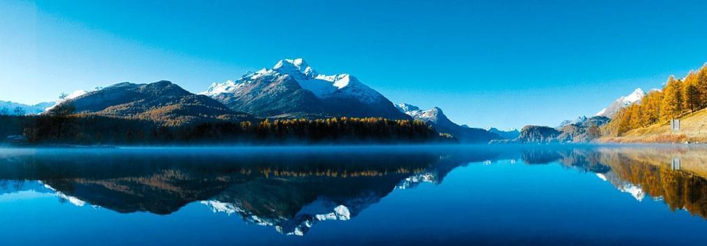 Silssee, Sils Maria, St Moritz, Швейцария, озера в Швейцарии