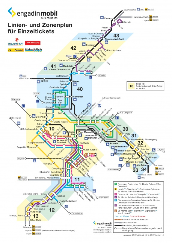 Bus Routes Map Bus routes | Winter in the Engadin St. Moritz