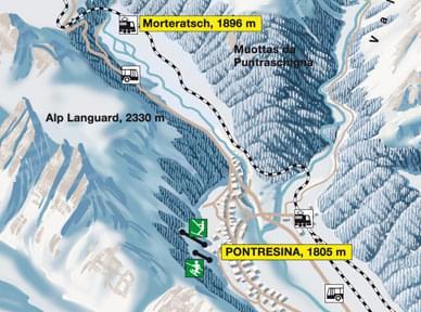 pistenbericht schneebericht skiregion languard pontresina engadin st moritz graub nden schweiz. Black Bedroom Furniture Sets. Home Design Ideas